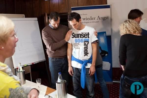 Gruppen Hypnose Demonstration während der Ausbildung