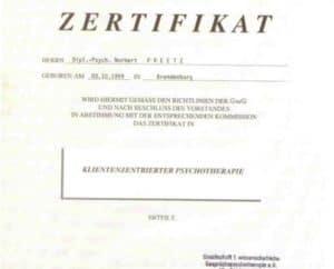 1991-04-08-Zertifikat-Klientenzentrierte-Psychotherapie_0001-495x400