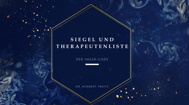 Siegel und Therapeutenliste - Yager-Code